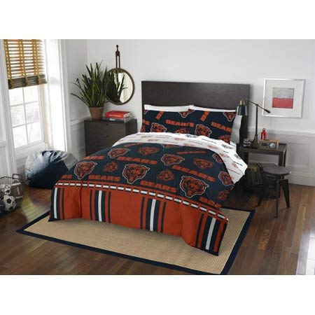 Bears Chicago Set Full Sheet (Official Chicago Bears Bed in Bag Set Full)