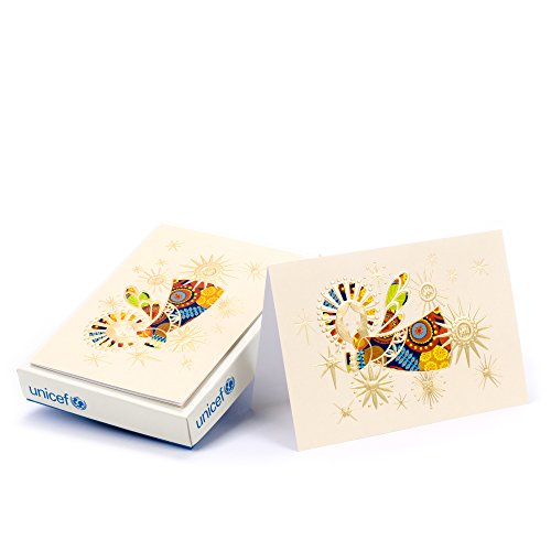 Hallmark UNICEF Christmas Boxed Cards, Shining Angel Blessing (12 Cards and 13 ()