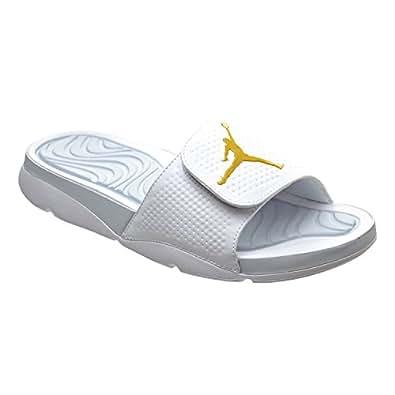 Amazon.com | Jordan Hydro 5 Men's Sandals White/Metallic Gold Coin