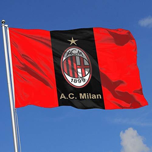 Ac Milan Flag - VCU2 A.C. Milan Logo House Flag Garden Flag Yard Banner Garden Flag 3' X 5'
