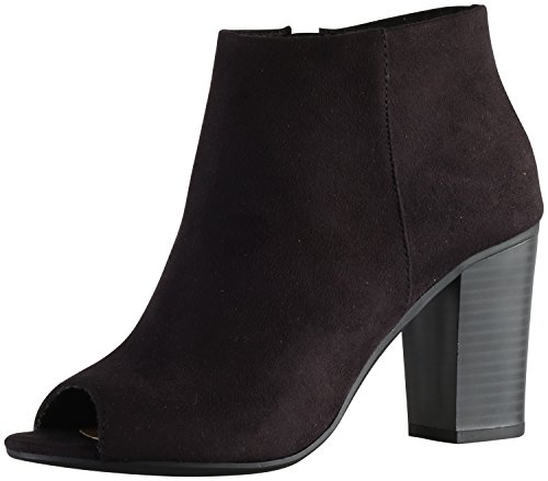Delicious Women's Louisa Stacked Chunky Heel Peep Toe Bootie