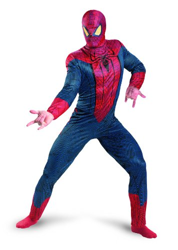 Disguise Marvel The Amazing Spider-Man 3D Movie Classic Adult Costume, Red/Blue, XX-Large/(50-52)