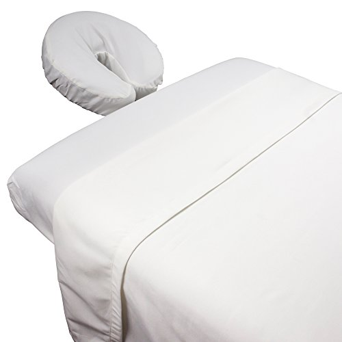 Weight Linen (Tranquility Microfiber Massage Sheet Sets By Body Linen - Lightweight, Long-Lasting Microfiber Massage Table Sheet Set - Stain-Resistant, Soft and No Pilling {White})