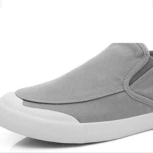 Salvajes Black Wangkuanhome Lona Hombres Black 43 color Los Zapatos Ocasionales Transpirables Tendencia Size Verano De wS6zCwqT