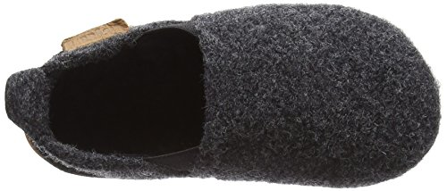 Bisgaard Unisex-Kinder Wool Sailor Slipper Grau (74 Antrachite)