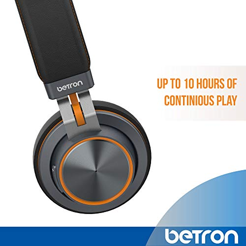 Betron S2 Wireless Headphones, Bluetooth On Ear Headphones with Mic and Remote Controls, Heavy Bass Sound, Adjustable Headband, Hands-Free Call, Including Wired Mode