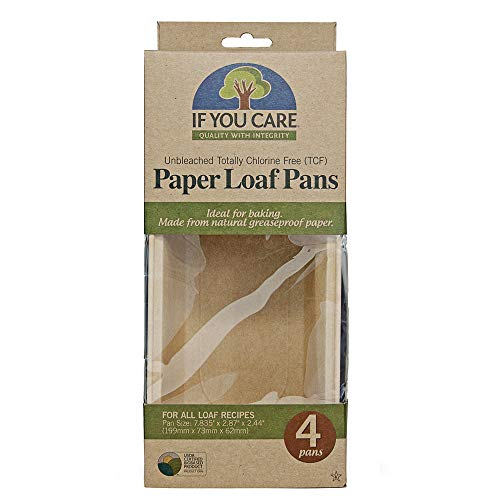 - IF YOU CARE FSC Certified Paper Loaf Baking Pans, 4-Count
