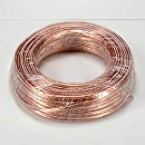 speaker wire coil - InstallerParts 22AWG 2-Conductor Polarized Copper Speaker Wire (Clear, 100 Feet)
