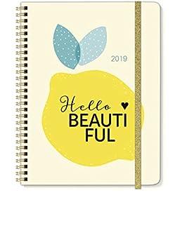 Espiral de calendario de libro diseño Hello Beautiful A5 ...