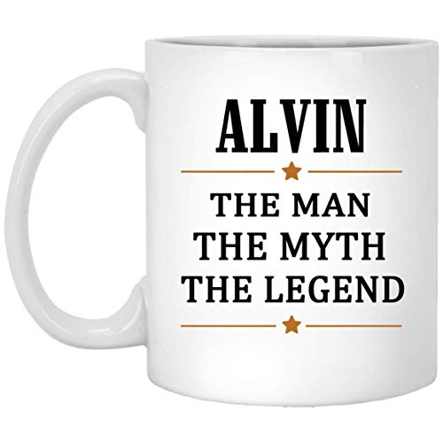 - Alvin Tea Cup Large The Man The Myth The Legend Coffee Mug - Anniversary Birthday Christmas Gifts For Alvin Gag Gift Ceramic Mugs Cup White 11 Oz