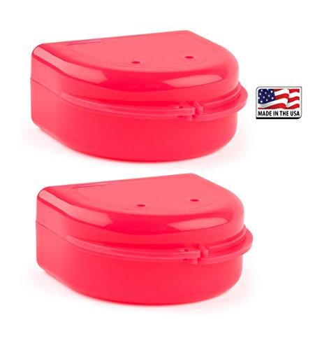 2 Pack- Snap Lock Retainer Case; Pink Poppy