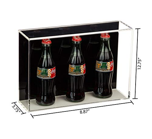 Versatile Deluxe Acrylic Display Case with Black Back Horizontal Wall Mount 8.75 x 3.75 x 12.75 A020-BB-WM