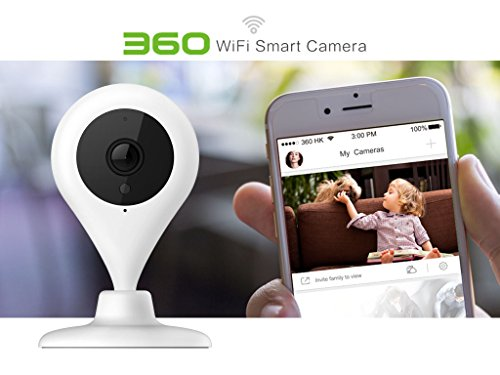 Brand:360 | CAM-D503 Day & Night WiFi Smart Camera with Remote Viewing - Baby Pet Video Monitor/Secure 24 hrs/ View Instantly & Playback Remotely