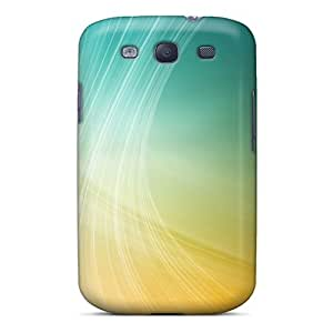 Premium [QqkwCBN7291Rkkuh]yellow Wave Abstract Case For Galaxy S3- Eco-friendly Packaging