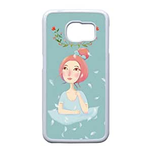 Good Phone Case With High Quality Illustration Girl Pattern On Back - Samsung Galaxy S6 Edge