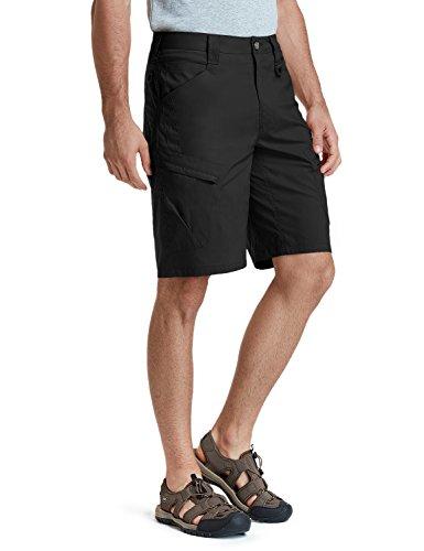 CQR Men's Tactical Lightweight Utiliy EDC Cargo Work Uniform Shorts, Urban Driflex(txs410) - Black,