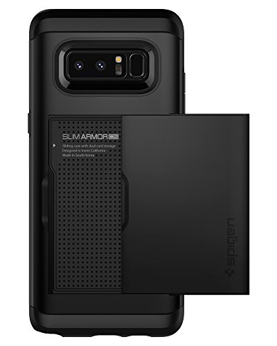 Spigen Slim Armor CS Galaxy Note 8 Case with Slim Dual Layer Wallet Design and Card Slot Holder for Galaxy Note 8 (2017) - Black