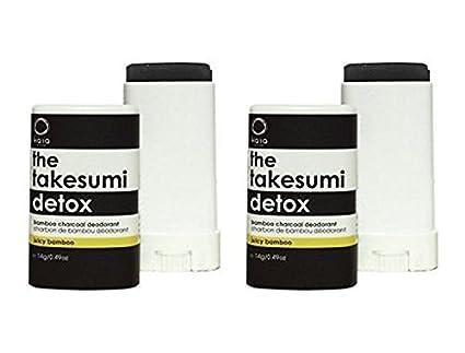 Kaia Naturals takesumi Detox Juicy bambú desodorante (Pack de 2) con bambú, carbón
