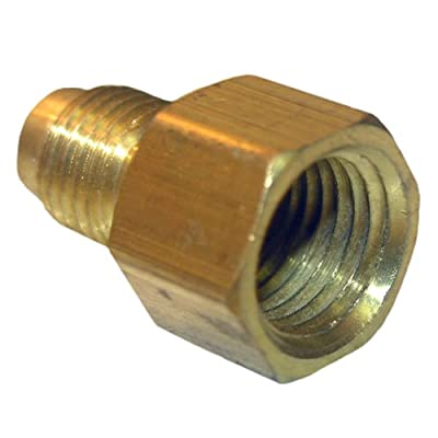 LASCO 17-4609 1/4-Inch Flare by 1/8-Inch Female Pipe Thread Brass Adapter