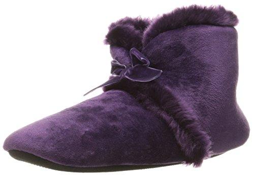 Slippers Velour Bootie ISOTONER Purple Women's Diane Majestic qTTI8