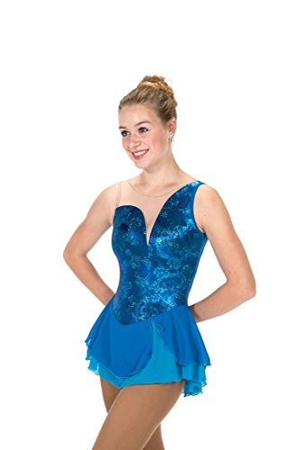 Jerry's Figure Skating Dress 252 - Aurellia Ocean Blue (12-14) by Jerry's Skating World