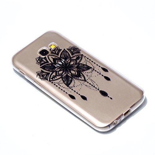 Funda Samsung A5 2017 Carcasa TPU Case Silicona Gel Clear Ultra Fina Flexibilidad Transparente Anti-rasguños TPU Diseño creativo del patrón de colores a prueba de golpes para Samsung Galaxy A5 2017 -  image-8