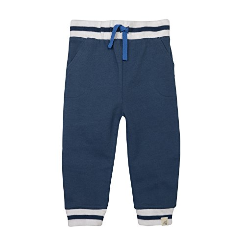Burt's Bees Baby Baby Boys' Organic Banded Cuff Pant, Northern Sky, 3-6 Months