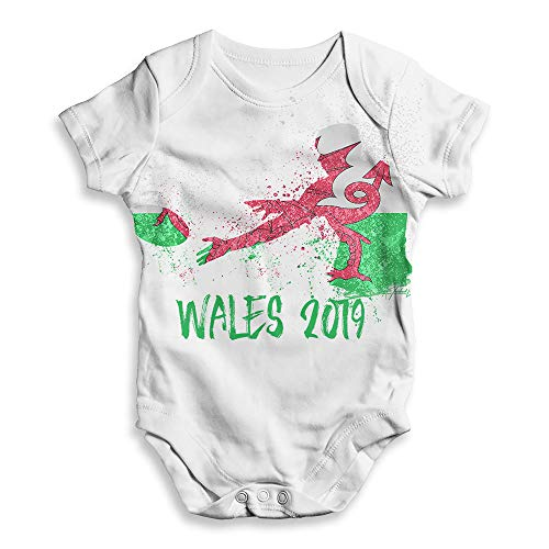 Funny Baby Onesies Rugby Wales 2019 Baby Unisex All-Over Print Baby Grow Bodysuit 12-18 Months White