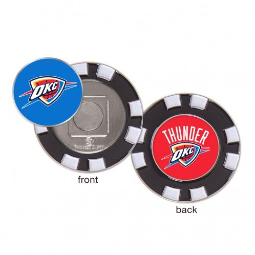 Oklahoma City Thunder OKC NBA Poker Chip Golf Ball Marker