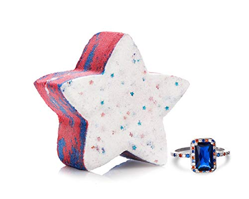 Fragrant Jewels America Bath Bomb with Collectible Ring (Size 5-10)