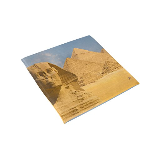 Egyptian Sphinx And Pyramid Memory Foam Chair Pads Car Seat Cushion,16 x 16 inches ()
