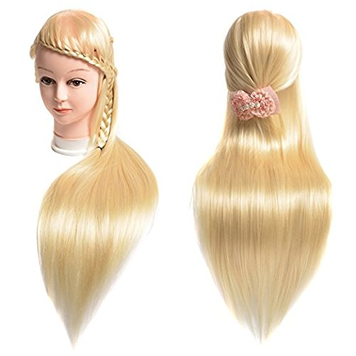 Amazon.com : Manikin Head Cabeza Manikins Para Peluca Cabello Pelo Profesional Hair And Free Clamp Holder Bleach Blonde : Everything Else