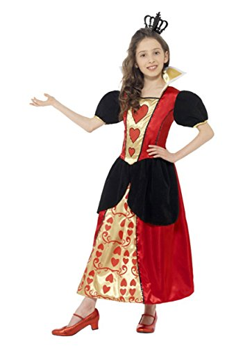 King Wonderland Of Hearts Alice In Costumes (10-12 Years Girls Miss Hearts)