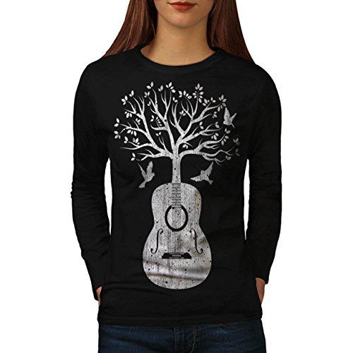 guitar-music-tree-women-new-xl-long-sleeve-t-shirt-wellcoda