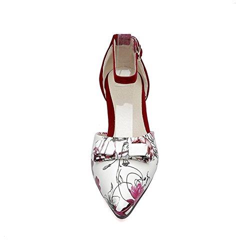 BalaMasa Sandales Sandales BalaMasa Femme Compensées Red qqvT7HwExr