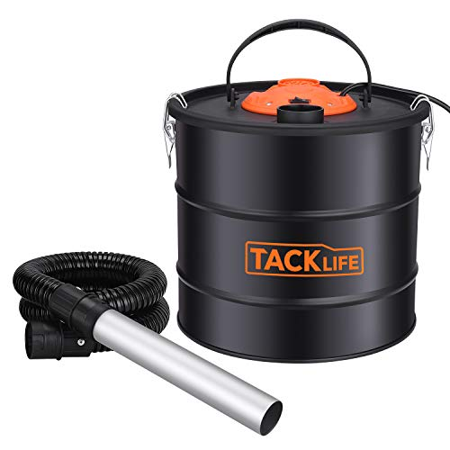 TACKLIFE 800W Ash Vacuum, 5-Gallon Ash Vacuum Cleaner, Blower VAC 2 in 1, Double Filtration System for Pellet Stoves,BBQ Grills and Wood Stoves – PVC03A