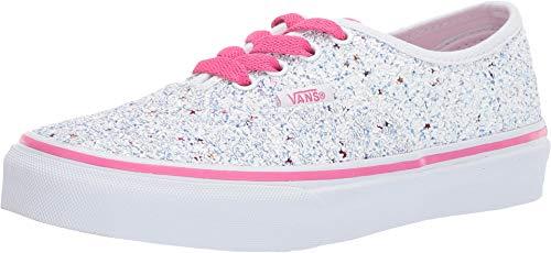 Vans Kids Girl's Authentic (Little Kid/Big Kid) (Glitter Stars) True White/Carmine Rose 1 M US Little Kid -