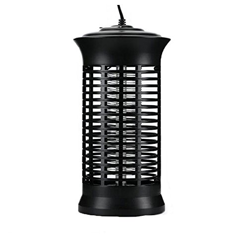 Electronic Mosquito Insect Fly Killer Rechargeable Bug Zapper Catcher Trap Indoor Outdoor with UV Light Bulb Lamp Pest Repeller Cordless with Hook For Home Office Restaurant Patio Backyard (Black) by Ishow Store
