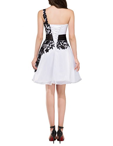 Vestido Cinturón decorado 38 Rodilla Vestidos la Moda Cuello Blancos De Por Sin IxnRIqYF