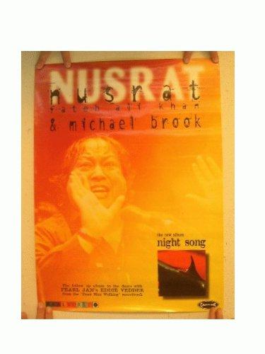Nusrat Poster Night Song Fateh Ali Kahn & Michael Brook (Best Of Nusrat Fateh)