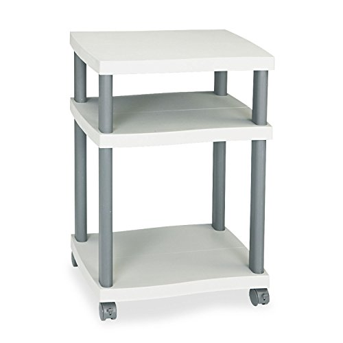 (Safco 1860GR Wave Design Printer Stand Three-Shelf 20w x 17-1/2d x 29-1/4h Charcoal Gray)