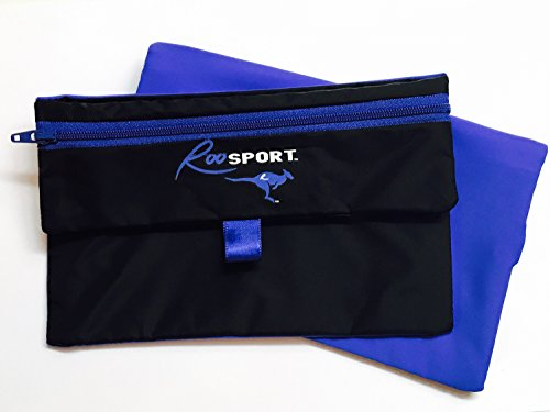 The RooSport 2.0 BLUE NEW 2015 Running Pocket - The Original Magnetic Pocket, (Not to be confused w/Running Buddy or Buddy Pouch)Attachable, Water-resistant, Magnetic Running Pouch! Not a Running Belt! Go Beltless! Great for Runners, Walkers, Cyclists, Hikers, & Travelers 6x4