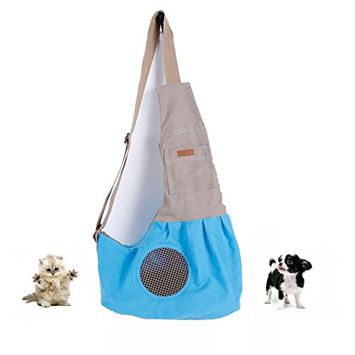 Pesp Pet Sling Carrier Bag with Adjustable Strap Dog Cat Portable Hands Free Outdoor Shoulder Bag