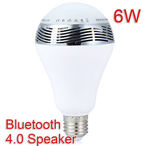 E27 6W RGB LED Light Bulb Color Change Dimmable Indoor/Outdoor Lighting Lamp Bluetooth 4.0 Music Speaker Lantern Smartphone APP Remote Control For Home Stage Bar Party Dating Decoration Exhibition Use