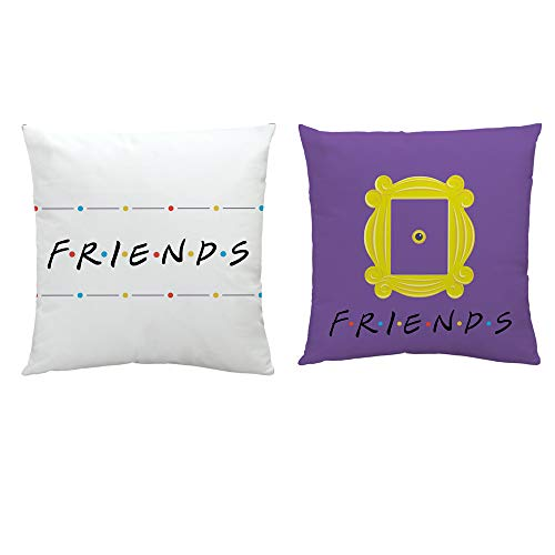Friends Pillow Case Peephole Yellow Door Frame Pillow Case Set of 2 1818 inch-Sofa Cushion Velvet Covers