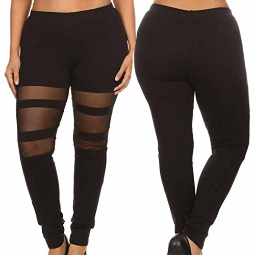 36' Convertible Necklace (Lamolory Womens Pants, Plus Size Elastic Leggings Block Mesh Splicing Sport Pants Sport Pants (XXXL))