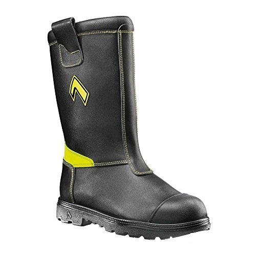 Haix Fireman Yellow The Model for First-Time Users Black Rafn3Ft1O