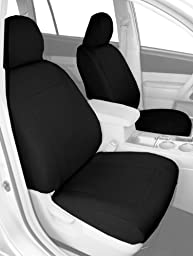 CalTrend Front Row Bucket Custom Fit Seat Cover for Select Honda Element Models - SportsTex (Charcoal)