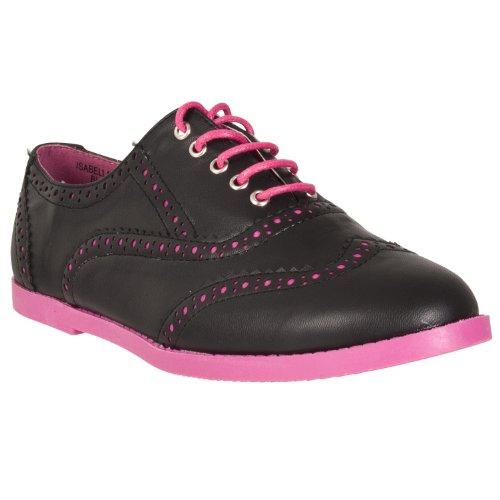 Oxfords tone Womens Black Isabella Two Pinky 8nqtwIazfx