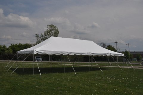 Economy-20×40-White-Pole-Tent-The-Weekender-Party-Tent-Free-Shipping